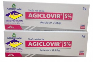 Aciclovir 5 gram (tuýp)