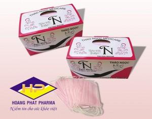 Khẩu trang y tế Thảo Ngọc màu hồng