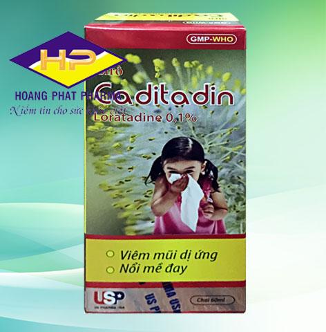 Siro Caditadin 60ml (Loratadine 01.%)