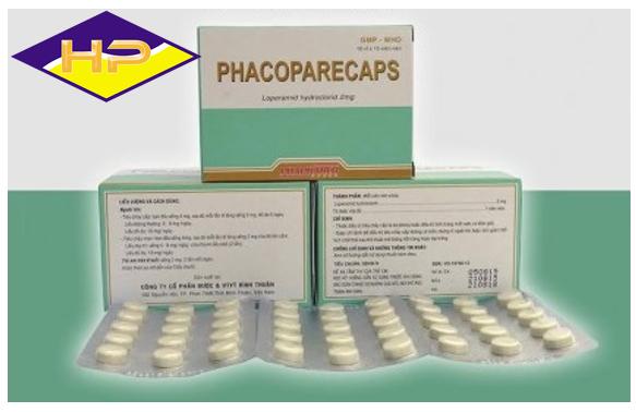 Thuốc cầm tiêu chảy PHACOPARECAPS
