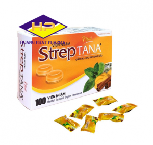 Kẹo ngậm trị ho Streptana hộp 100 viên