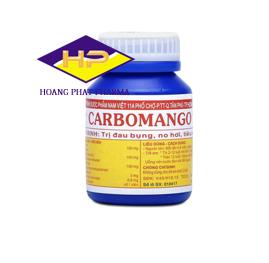 Thuốc trị đau bụng, no hơi và tiêu chảy Carbomango