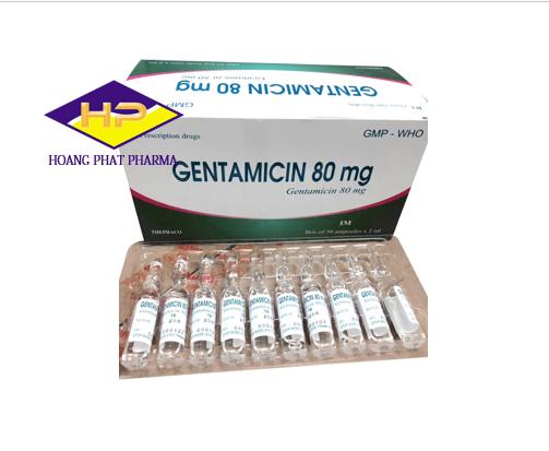 Dung dịch tiêm Gentamicin 80mg/2ml