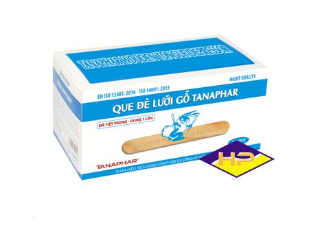 Que đè lưỡi tiệt trùng TANA  (gỗ Bồ đề, thơm)