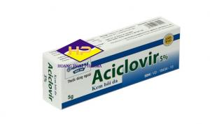 Kem bôi da Acyclovir 5%