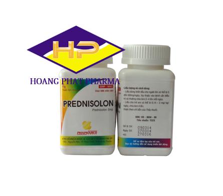 Prednisolon 5mg Chai Bình Thuận