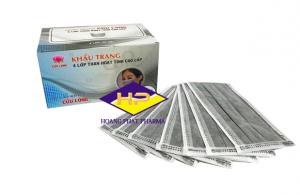 Khẩu trang y tế than hoạt tính 4 lớp Cửu Long Hộp 50 cái
