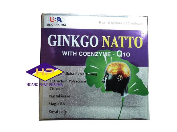 Viên uống bổ não tăng cường trí nhớ Ginkgo Natto with Coenzyme Q10 Hộp 100 viên
