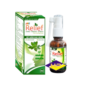Xịt Họng ABC Relief 30ml Kháng khuẩn – Giảm đau họng  – Tăng cường miễn dịch
